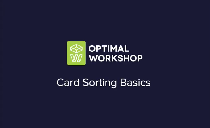 Card sorting basics (video)