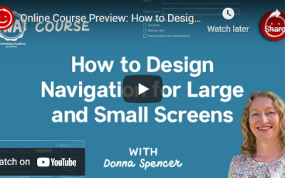 How to design navigation for large and small screens
